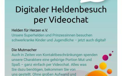 Superhelden besuchen dich im Videochat
